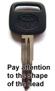 Toyota non-chipped key