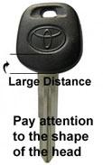Toyota chipped key